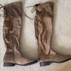 Francesca's Tan Over the Knee Boot